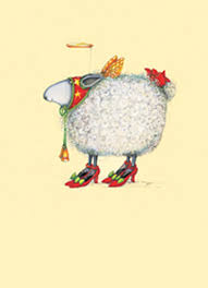 patience brewster sheep in heels boxed cards