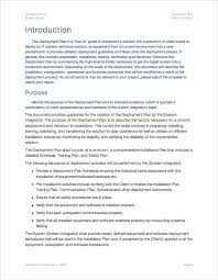 deployment plan template apple iwork pages