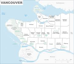 Map Of Vancouver Canada List Of Neighbourhoods In Vancouver Wikipedia