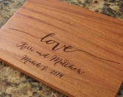 personalized wedding cutting board personalized wedding gift custom engraved last name monogram