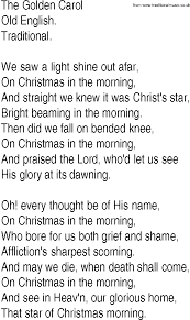 Star Light Star Bright Lyrics Hymn And Gospel Song Lyrics For The Golden Carol By Old English