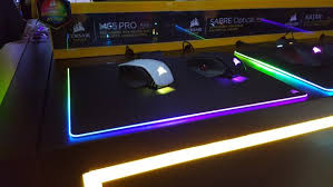 light up gaming mouse pad oh great now corsair has a 60 light up mousepad too pcworld