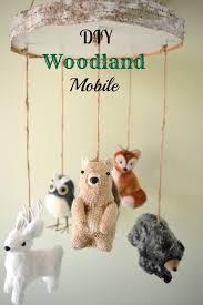 Woodland Decor Nursery Diy Woodland Mobile Baby Pinterest Woodland Mobile