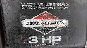two types of 3hp briggs outdoorking repair forum