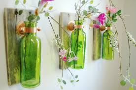 Home Wall Decor by Farmhouse Style Glass Bottle Trio Farmhouse Style Wall Decor