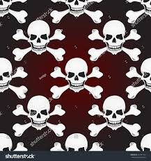halloween background skulls halloween skulls seamless pattern vector background stock vector