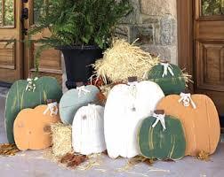 Outdoor Wood Decor Wood Pumpkins Etsy