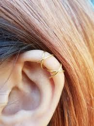 ear cuffs two criss cross ear cuffs cartilage ear cuff set no ear
