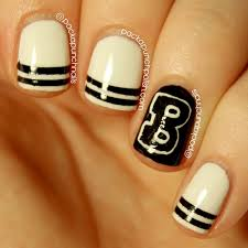 packapunchpolish varsity letter jacket nail art inspired by