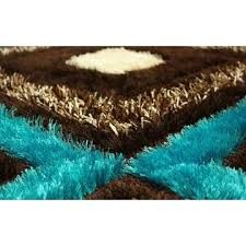 Blue Brown Area Rugs Rugstyle Royal Collection Turquoise Blue Brown Contemporary Design