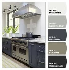 painted cabinets sherwin williams oyster bay pewter green via