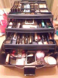 make up artist supplies took a tackle box i bought a while back for supplies and