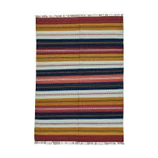 Orange And White Striped Rug 1800getarug Oriental Carpets And Persian Rugs In The Usa
