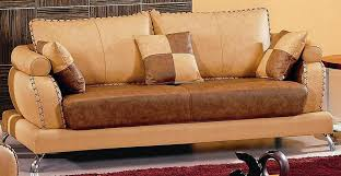 Camel Leather Sofa by Camel Two Toned Leather Sofa Set Arkansas 2 679 00