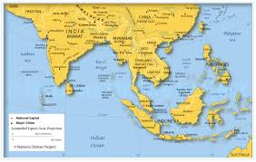 Asia Physical Map Southeast Asia Map Quiz Roundtripticket Me