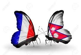 Pics Of Nepal Flag Two Butterflies With Flags On Wings As Symbol Of Relations France