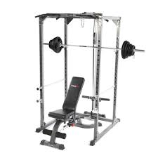 Weight Bench With Barbell Set Bodymax Cf375 Elite Strength Package Squat Rack Pulley System