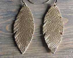 one side feather earring feather earrings one side fringed leather earrings big