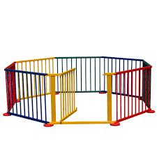 kids room divider amazon com costzon baby playpen 8 panel colors wooden frame