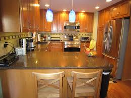 cute pendant kitchen lamp over kitchen bar table stools and dark
