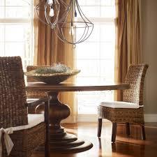 magnolia round dining table dark oak pedestal classic and dark