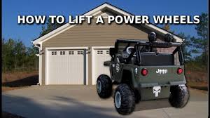 power wheels jeep frozen how to lift a power wheels jeep youtube