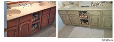 Before And After Painted Kitchen Cabinets by Bathroom Vanity Makeover With Annie Sloan Chalk Paint Hometalk