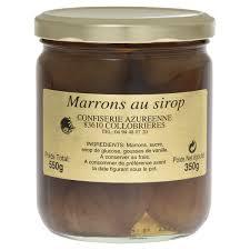 cuisiner des marrons frais marrons au sirop confiserie azuréenne