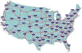 highway map of the united states highway map of america america map