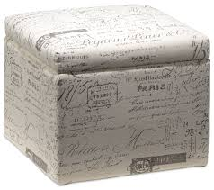 boardwalk small storage ottoman scroll white leon u0027s
