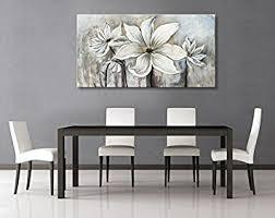dining room artwork amazon com seekland art hand painted canvas wall art white