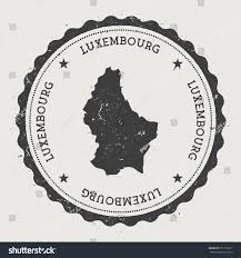 Map Of Luxembourg Grand Duchy Luxembourg Hipster Round Rubber Stock Vector 351716651