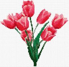 tulips free cross stitch pattern better cross stitch