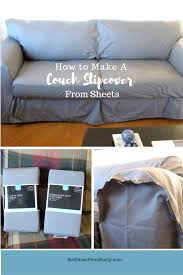 How To Make Slipcovers For Couch How To Make A Couch Slipcover From Sheets Scribbles From Emily