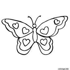Coloriage Papillon Coeur dessin