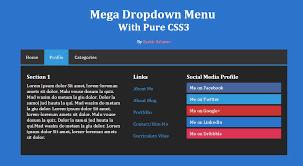 cara membuat menu dropdown keren cara membuat mega menu dropdown dengan css