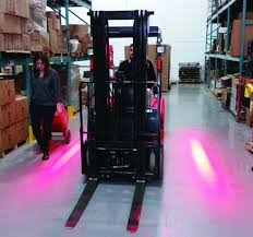 blue warning lights on forklifts red zone danger area warning light led forklift safety light red