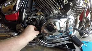 1995 yamaha virago xv750 oil and filter change youtube