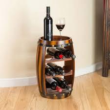 buy christow wooden barrel 8 bottle wine rack from our wine racks