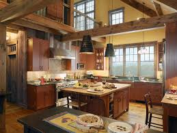 kitchen design rustic farmhouse kitchen table island exhaust