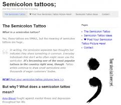 semicolon tattoo launches website to chart the rise of the biggest