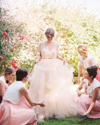 pink wedding dress 16 pretty in pink wedding dresses martha stewart weddings