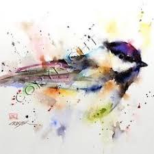 watercolor tutorial chickadee speed painting loose watercolor chickadee watercolor art