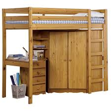 upmarket pine wooden natural varnished high beds with adjustable