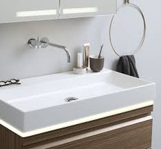 lighting under the washbasin or in drawers gives a beautiful