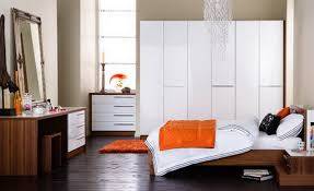 Orange And White Bedroom White And Wood Bedroom Home Design Ideas