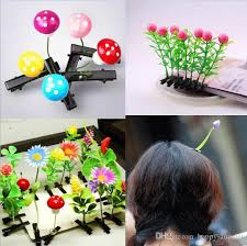 cheap hair accessories newest lovely novelty plants grass hair headwear small bud