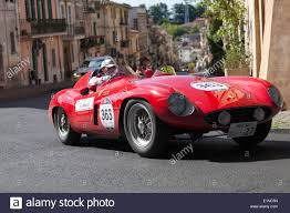 rally ferrari ferrari 750 monza spider takes a bend in the mille miglia rally