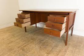 Mid Century Desk Stunning Vintage Retro Danish Teak Mid Century Desk Vinterior
