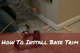 how to install base trim youtube